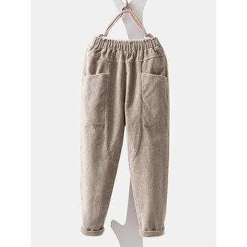 Corduroy Pocket Casual Pant