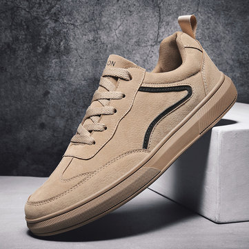 Men Comfy Round Toe Flat Casual Trainers