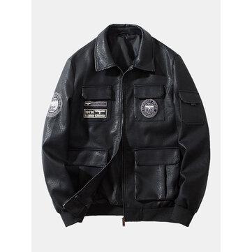 Vintage Leather Multi Pockets Jackets