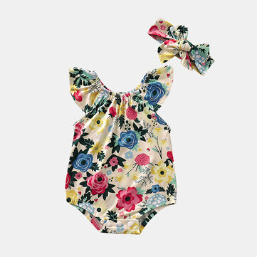 Baby Flower Rompers For 6-24M