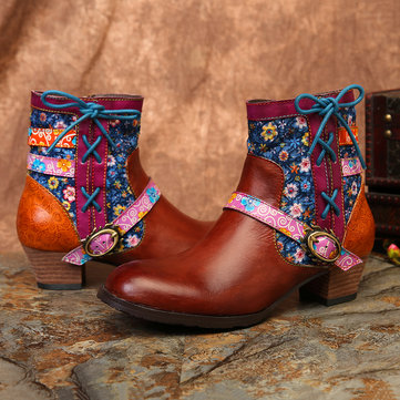 Folkways Small Flowers Splicing Boots