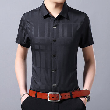 Exhibition Of The Wei 2019 Summer Men's Shirt Chinese Style Men's Short-sleeved Korean Version Of The Self-cultivation Comfortable Shirt Male