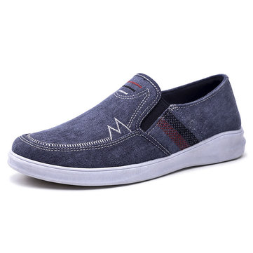 Men Washed Canvas Comfy Soft Casual Shoes