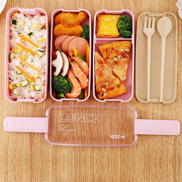 900Ml Healthy مواد Lunch Box 3 Layer