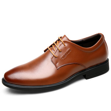 Men Cow Leather Soft Business Formal Shoes