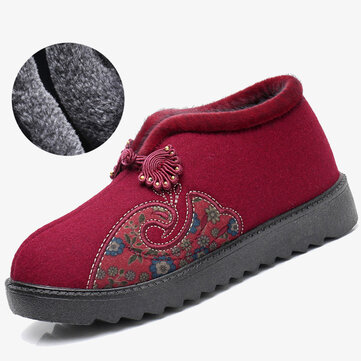 Plush Cotton Non Slip Ankle Boots