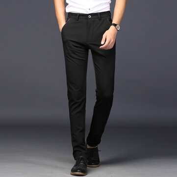 Summer New Men's Casual Pants Korean Version Of The Elastic Feet Pants Youth Sports Long Pants