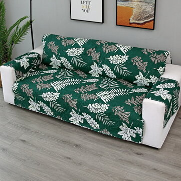 Leaf Printing Ultrasonic Conjoined Pet Quilted Sofa Cushion