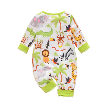 Baby Cartoon Print Romper For 0-24M