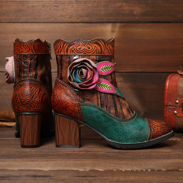 Handmade Floral Comfy Boots