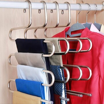 S-Type Pants Rack Multi-Function 5 Layer Hanger