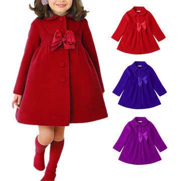 Girl Butterfly Dish Lace Coat para 3-11Y