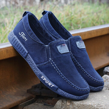 Men Canvas Slip On Soft Casual Shoes