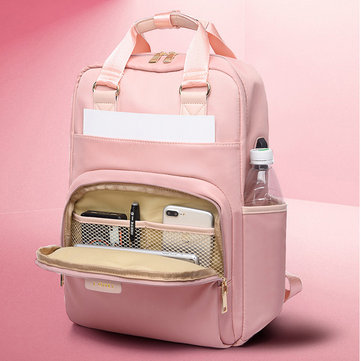Women Casual Patchwork Backpack