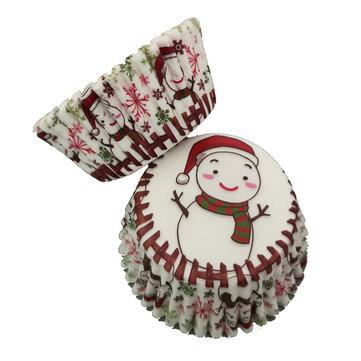 Cupcake de muñeco de nieve de Navidad 100Pcs