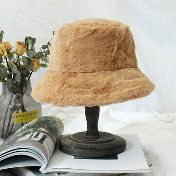 Fur Thick Warm Winter Bucket Hat