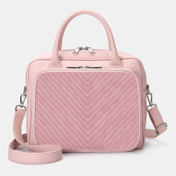Damen Designer Striped Travel Laptoptasche Umhängetasche