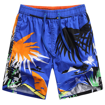 Hawaiian Style Fashion Travel Quickly Dry Icy Breathable Board Shorts for Men