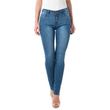 Casual Pocket Denim Blue Jeans