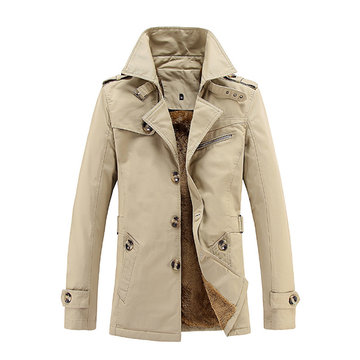100% Baumwolle lässig verdicken Slim Fit Trenchcoat