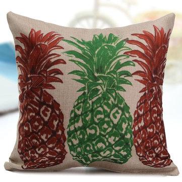 Vintage Pineapple Ocean View Pillow Case