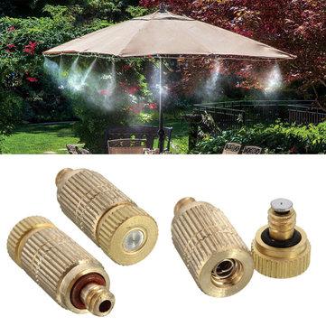 Irrigation de jardin de 3/16 pouces Brûleur à brouillard en laiton Buse Refroidissement Humidification Arroseur