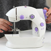 Mini Desktop Multifunctional Electric Sewing Machine Household Double Stitches Sewing Tools