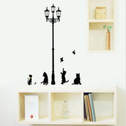 23x40CM Lâmpada Cat Adesivos de parede Home Stairs Sticker Decor Decorative Removable Wallpaper
