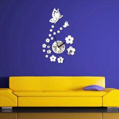 هونانا دكس-X7 الإبداعية فراشة 3d الاكريليك مرآة الجدار ملصق الكوارتز ساعات مشاهدة كبير ديكور المنزل