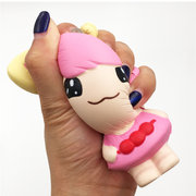 Pink Little Girl Squishy Cute Doll Gift