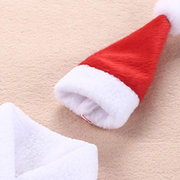 Christmas Red Wine Bottle Cover With Hats Santa Claus Button Decor Decoration For Dinner Party