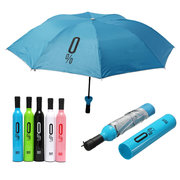 Creative Bottle Shape UV Folding Umbrellas