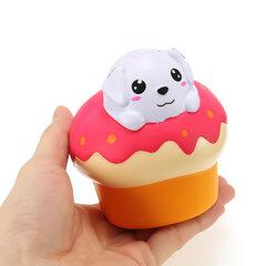 Xinda Squishy Cachorro Puff Cake 10cm Slow Rising Con Embalaje Colección Regalo Soft Toy