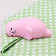 Pink Seal Mochi Squishy Squeeze Cute Healing Toy Kawaii Collection Stress Reliever Gift Decor
