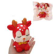 Kawaii Sleeping Sika Deer Squishy Slow Rising Soft Animal Toy Gift Collection