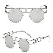 الرجال النساء خمر uv400 نظارات ريترو ستيبونك جولة مرآة عدسة النظارات