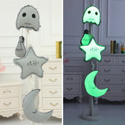 Luminous Star Moon Ghost Light Bulb Plush Throw Pillow Noctilucence Cushion Gifts