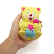 Xinda Squishy Strawberry Bear Holding Honey Pot 12cm Slow Rising Avec Emballage Collection Gift Toy