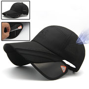 Men Women Polyester Mesh Wide Brim Baseball Cap Adjustable Breathable Outdoor Hat
