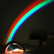 Amazing Colorful LED Rainbow Light Baby Kids Children Child Night Light Atmostphere Light