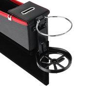 USB شاحن سيارة الجانب الأيمن مقعد شق مربع التخزين الفجوة مقعد حشو منظم الماسك مربع حامل الكأس