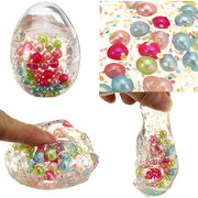 Slime Pearl Ball Simulated Egg Shape Bottle Crystal Clay Stress Reliever