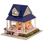 CuteRoom fai da te in legno casa delle bambole in miniatura con mobili casa giocattolo regalo per bambini bicicletta angolo kit