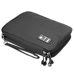 Oxford Travel Portable Data Cable Storage Bag Double Layer USB Gadget Organizer Digital Pouch