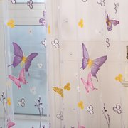 Colorful Butterfly Flower Voile Curtain Panel Window Room Divider Sheer Curtain Home Decor