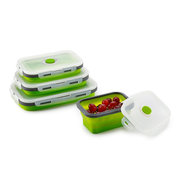 Silicone Folding Bento Box Collapsible Portable Lunch Box For Food Dinnerware Food Container