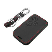 3-Key Red Line Leather Car Key Cover Shell Case/Bag for Renault Megane R.S. Scenic
