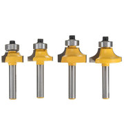 4pcs 1/4 Inch Router Bit Set Shank Tungsten Carbide Router Bit Rotary Tool for Woodworking