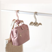 Rotated Storage Rack Bag Hanger Plastic Clothes Rack Creative Tie Closet Hanger Wardrobe Organizer