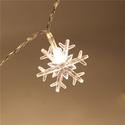 Christmas Decorations 1M 10LED Snowflake LED String Lights Battery Powered